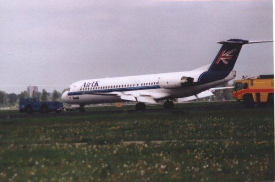 F100 Air UK after aborted take off